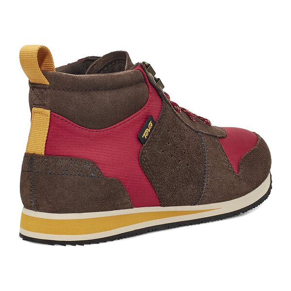 WOMEN'S HIGHSIDE '84 MID, BROWN/ PERSIAN RED, hi-res