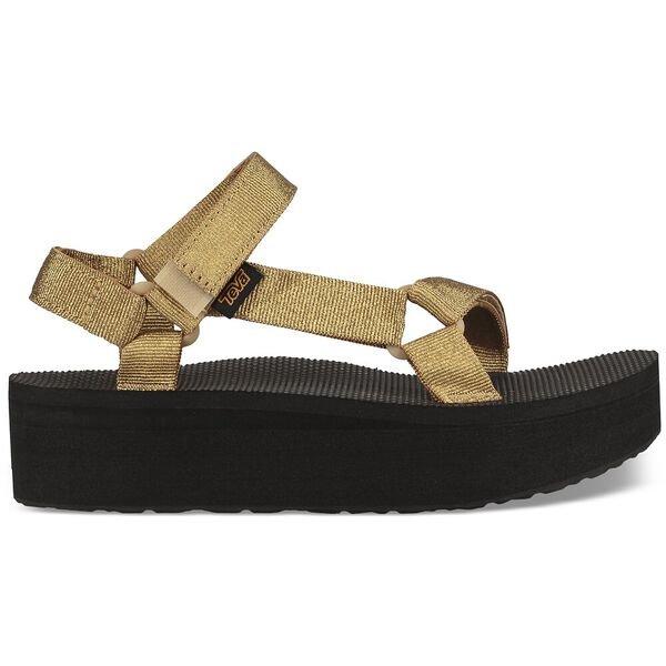 WOMEN'S FLATFORM UNIVERSAL, METALLIC GOLD, hi-res